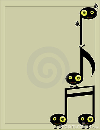 Musical note character background 3