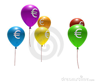 Balloons with euro symbol