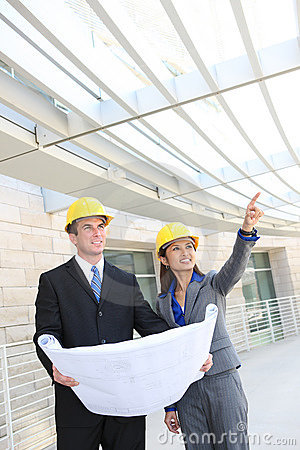 Man and Woman Construction Team