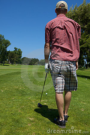 Golfer Preparing to Swing