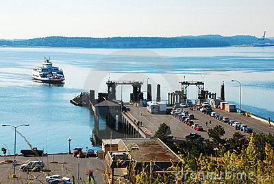 Ferry Arrives at the Dock
