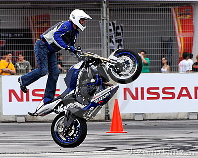 Mattie Griffin performing a wheelie
