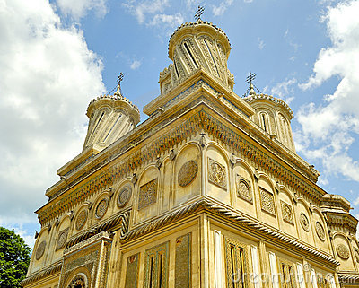 Beautiful monastery in Arges, Romania