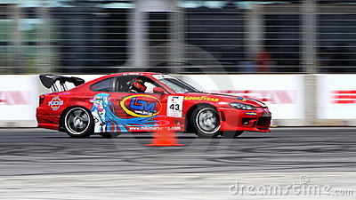 Colin Teo drifting at Formula Drift Championship