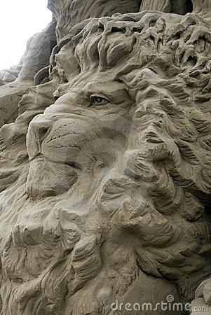 Sand Sculptures - the lion