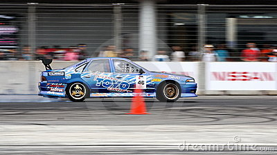 Nazrul drifting at Formula Drift Championship