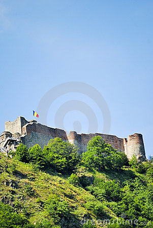Old fortified castle of Vlad Tepes in Romania