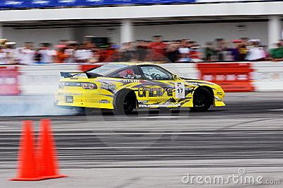 Kelvin drifting at Formula Drift Championship