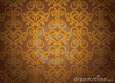 Gold ornamental pattern