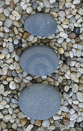 Stone on pebble