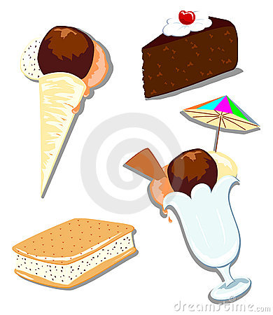 Mix ice cream and cake