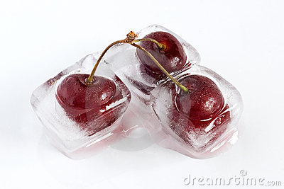 Iced cherries