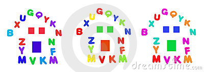Alphabets Arranged in Shape of House