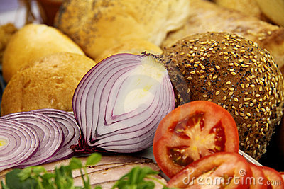 Red Onion And Bread