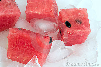 Watermelon and ice