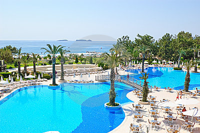 Summer vacation on Mediterranean Sea resort