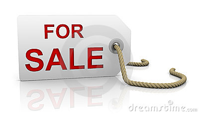 For sale tag in left position