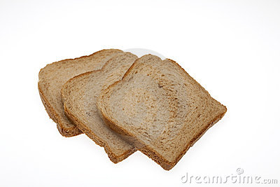 Slices of bread for toast