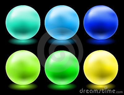 Glowing glass spheres