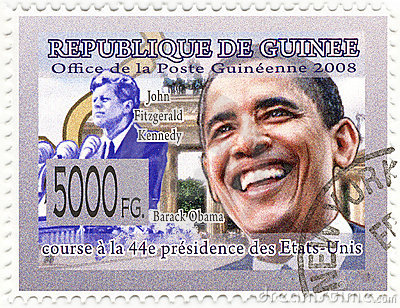 Stamp with Barack Obama
