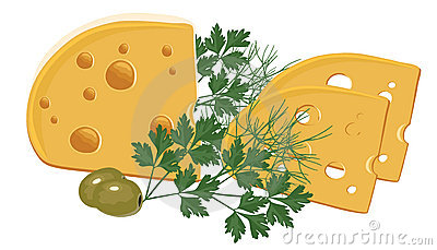Cheese with Green and Olives
