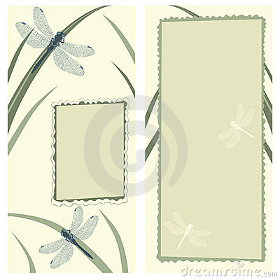 Greeting Card with Dragonflies