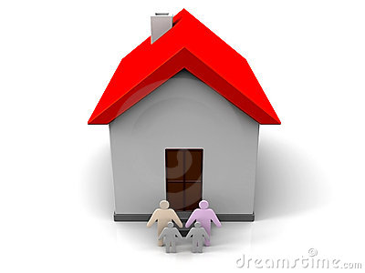 3D House with a Family