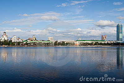 Kind on a city Ekaterinburg from the river