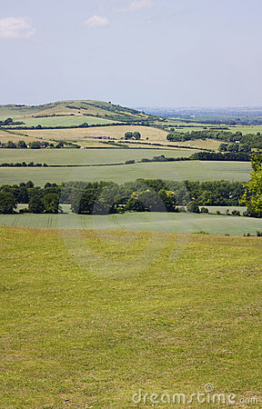 Dunstable downs countryside in england