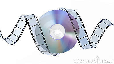 DVD disc and filmstrip
