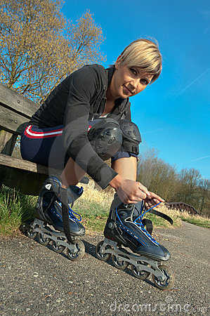 Woman with Rollerblades