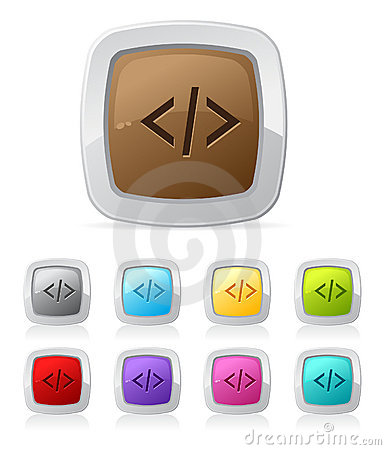 Glossy button - php code script