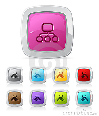 Glossy button - sitemap