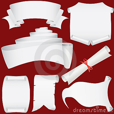 Paper banners, scrolls and diploma set