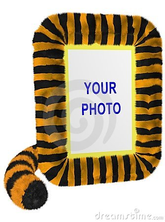 Tiger (Vertical Photo Frame)