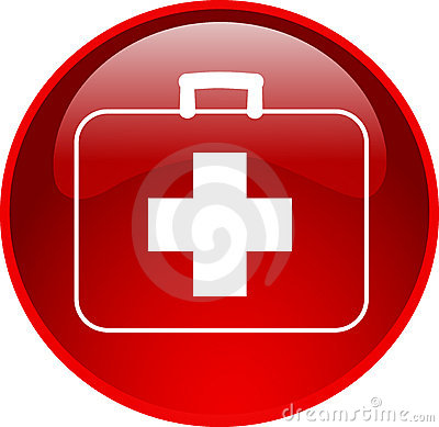 Red first aid button