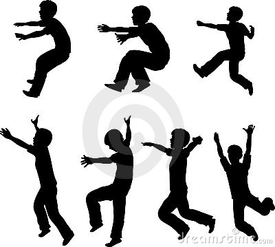 Jumping Boy Silhouettes