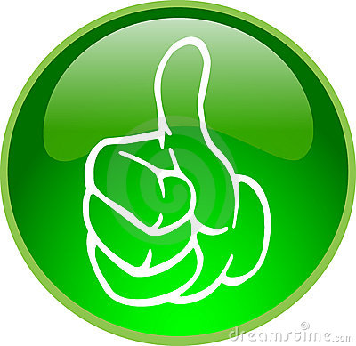 Green thumb up button