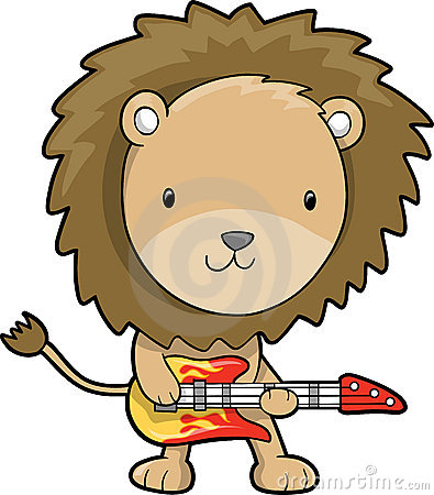 Rock Star Lion Vector