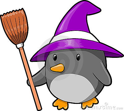 Halloween Penguin Vector Illustration