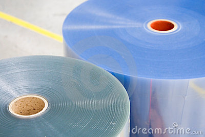Two plastic rolls for packaging machin