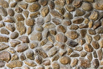 Embed stone in cement wall