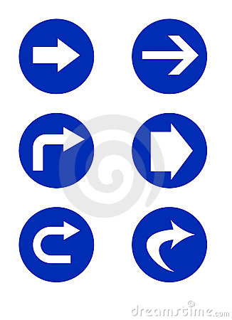 Directional road signs