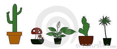 Potted Plant Illustration