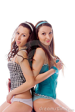 Two young girls friends