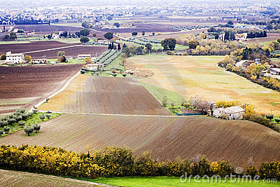 Umbrian landscape in autumn