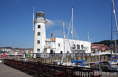 Lighthouse and yacht marina