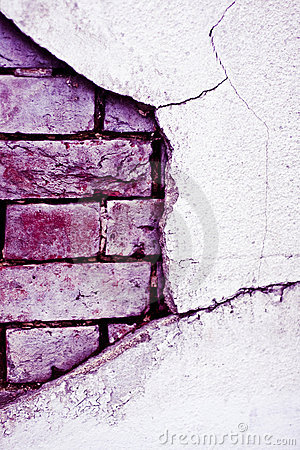 Old brick broken  wall