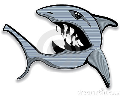 Open mouthed shark