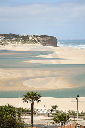 Silver coast, the obidos lagoon, Portugal